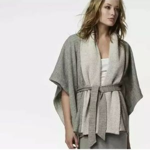 James Perse jersey blanket wrap poncho cape Med